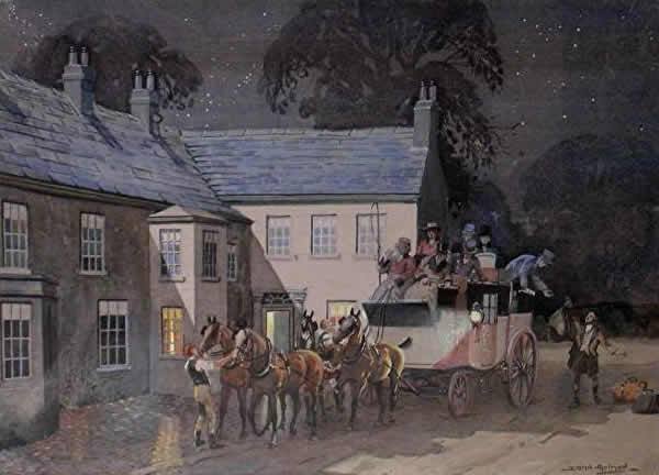 THE GREYHOUND, FERRYBRIDGE painted by JOSEPH APPLEYARD